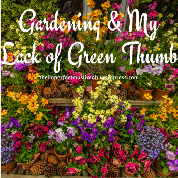 theimperfectmuslimah Gardening and my Lack of Green Thumb
