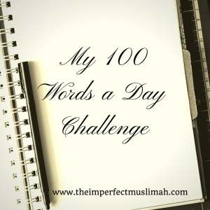 My 100 Words a Day Graphic